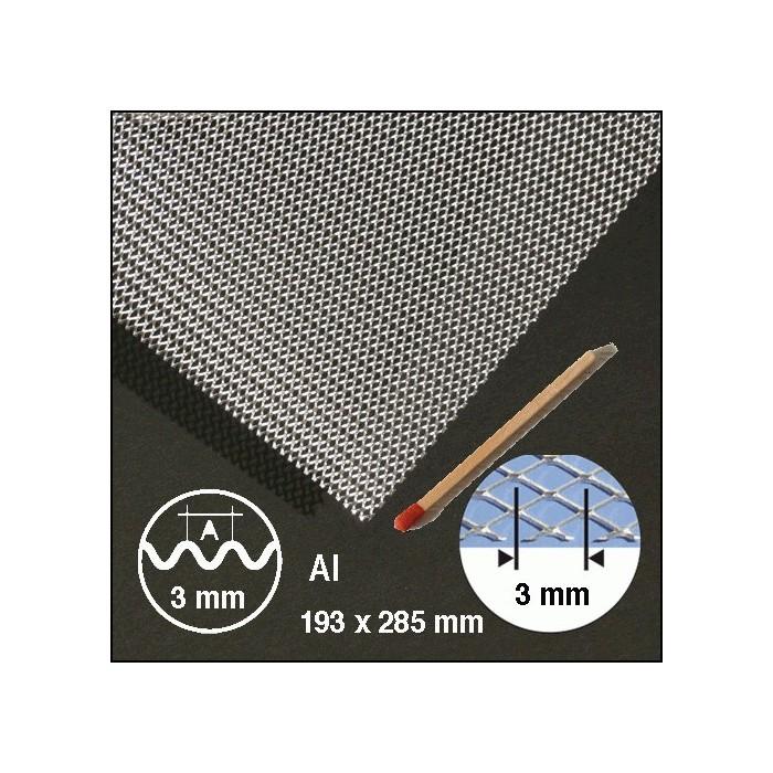 Métal déployé, ondulé aluminium 3mm