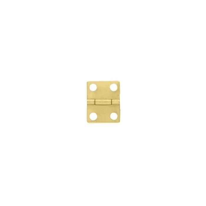 Charnière laiton 12x16mm trous de 2,3mm la paire
