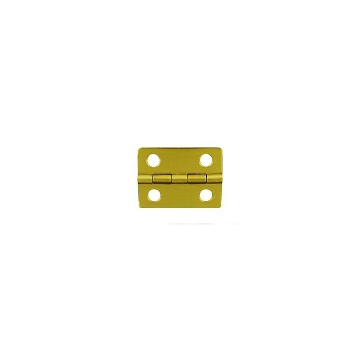 Charnière laiton 25,5x19mm trous de 13,5mm la paire
