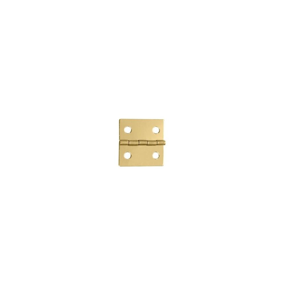 Charnière laiton 25,5x25,5mm trous de 4,3mm la paire