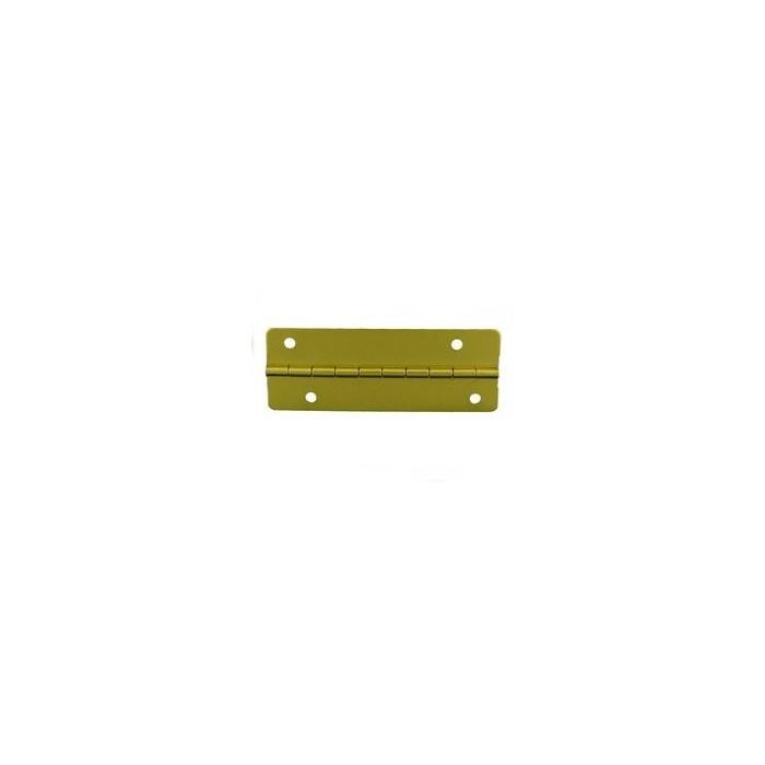 Charnière laiton 51x19mm trous de 2,3mm décalés pour vis la pair