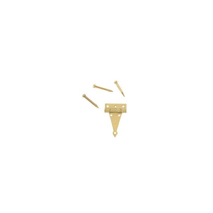 Charnière laiton 8,5x14mm la paire