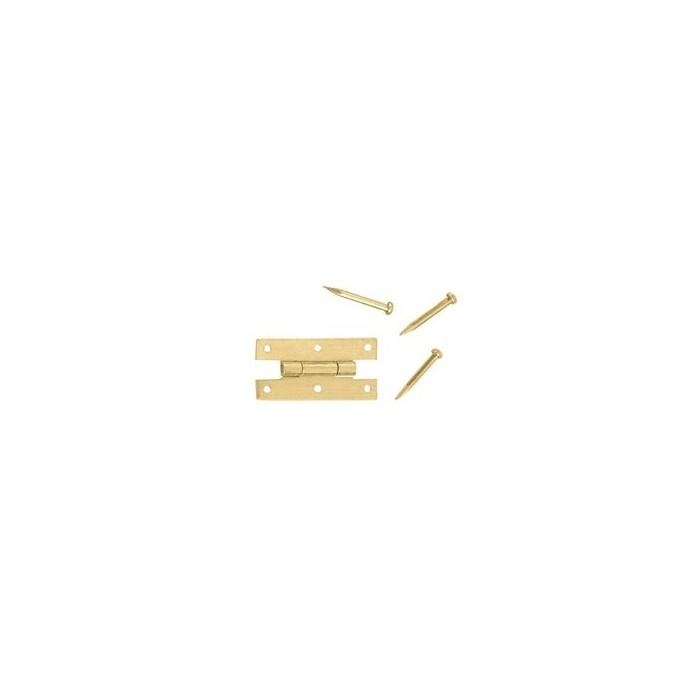 Charnière laiton 7x14,5x8,5mm la piece avec 7 clous
