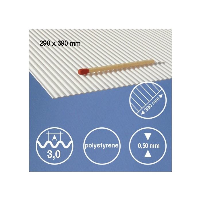 Tôle ondulée polystyrène 3,0mm