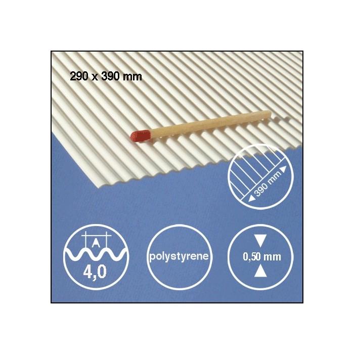 Tôle ondulée polystyrène 4,0mm