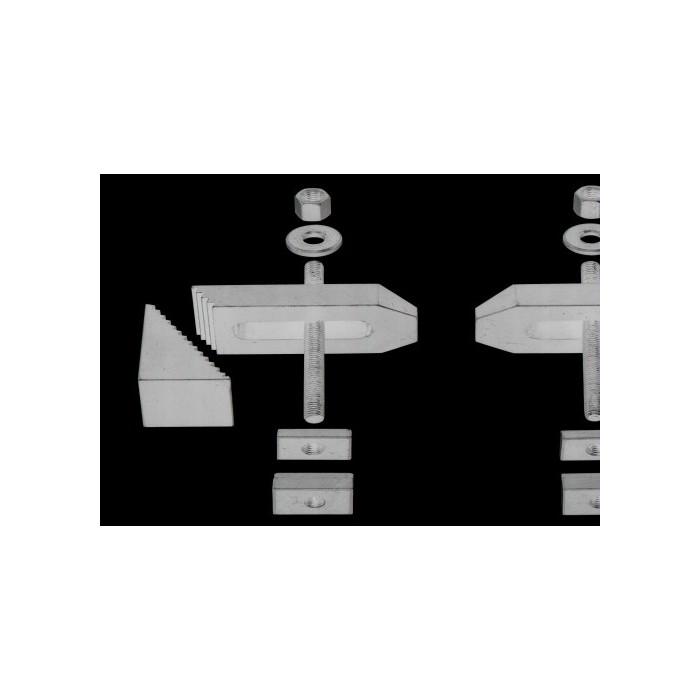 Brides de fixation en acier fraisé (2) pour KT150-PD230/E-FF230/