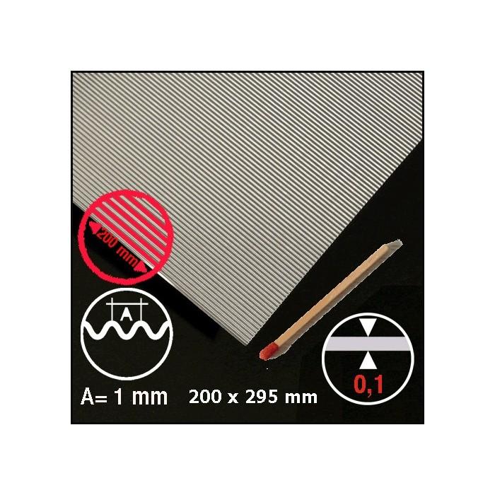 Tôle ondulée aluminium 1mm