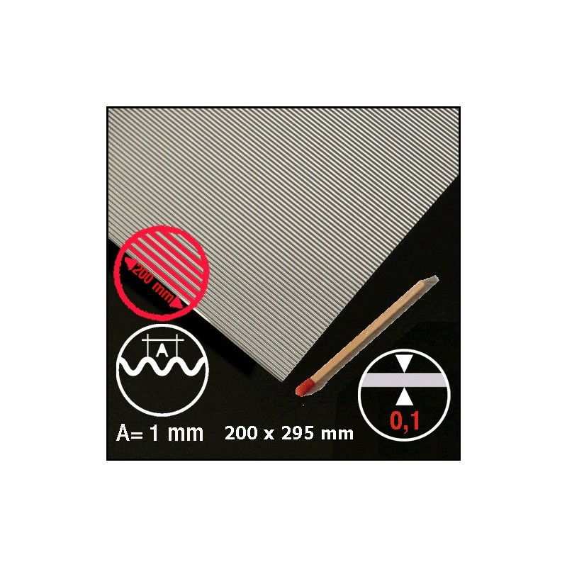 Wellblech Aluminium 1mm Micro Minature Ch Sàrl