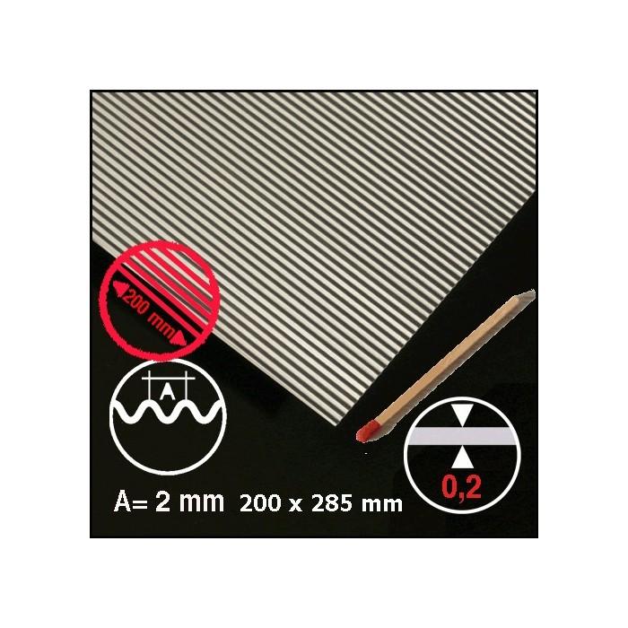 Tôle ondulée aluminium 2mm