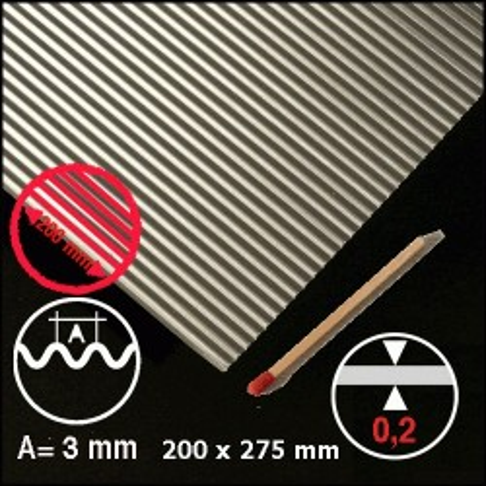Tôle ondulée aluminium 3mm