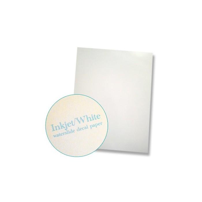 """Papier à décalcomanies pour imprimante jet d'encre format """"letter"""" fond blanc, 10 feuilles"""