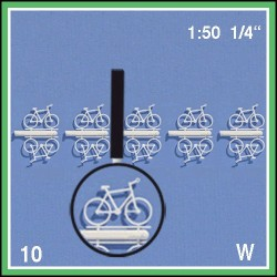 Bicyclettes divers 1:50. 10 bicyclettes blanches