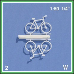 Bicyclettes 1:50. 2 bicyclettes blanches