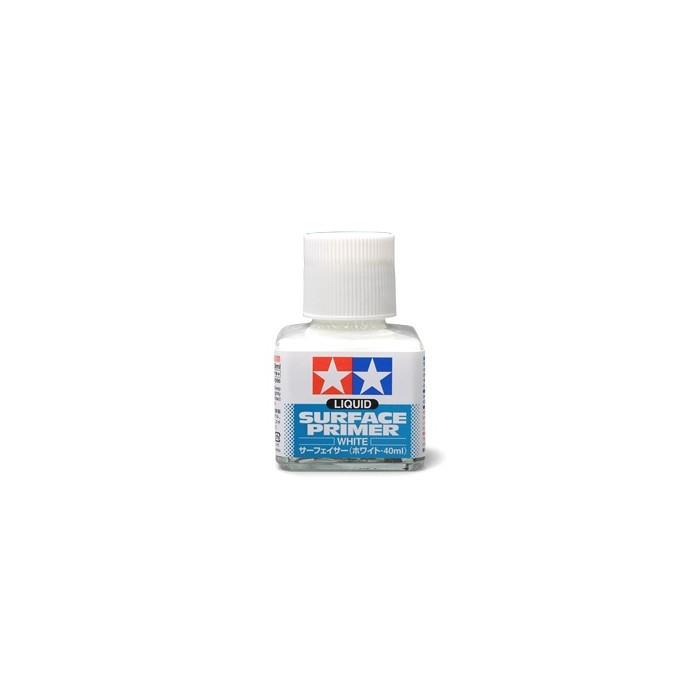 Apprêt blanc liquide à appliquer au pinceau. Pot de 40ml